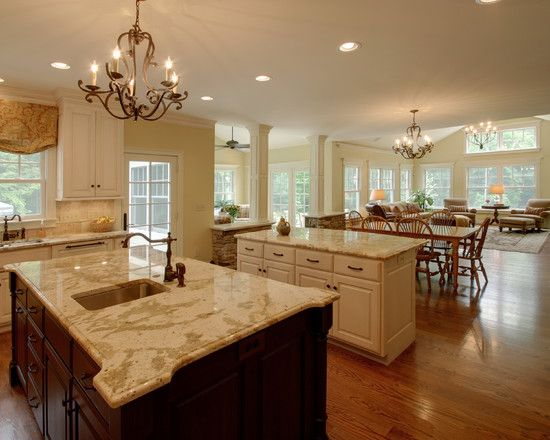 2 Island Kitchen Layout Quiet Casual Home: View From Kitchen To Dining Room    Traditional   Kitchen   Columbus   RTA Studio