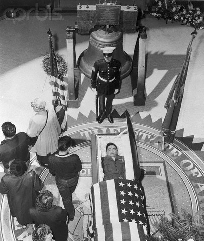 View of Funeral for Ira Hayes - U1274862INP - Rights Managed - Stock Photo - Corbis