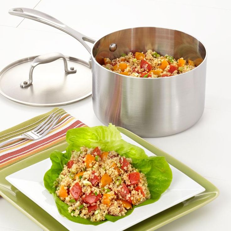 Quinoa Tomato Basil Salad Recipe from our friends at American Kitchen. When you want something with a little pizazz, try this recipe. Find it on the Recipes & Tips tab. #quinoa #recipes #salads