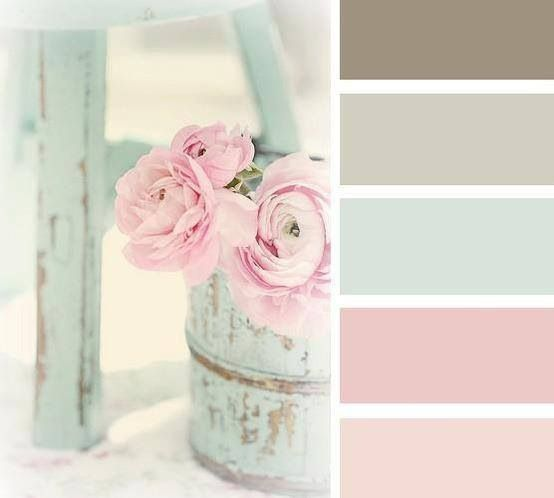 shabby chic look: colors