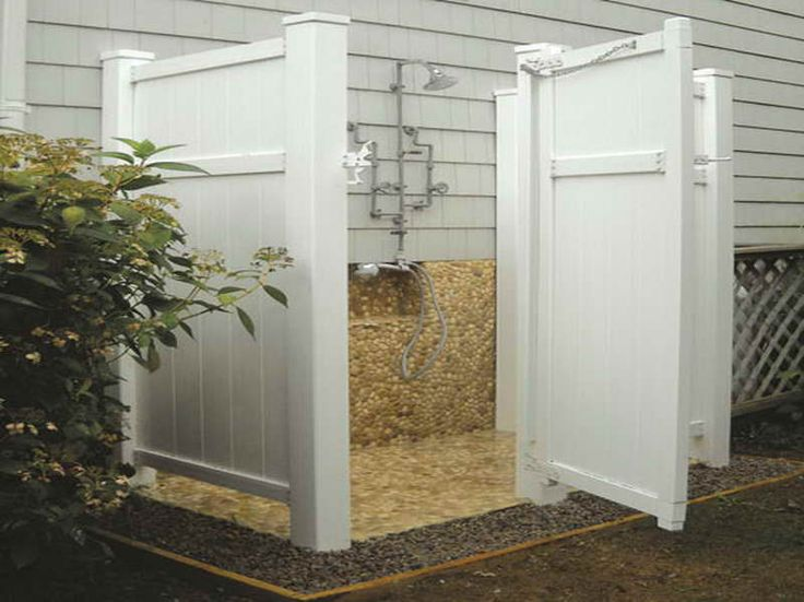 Outdoor Shower Enclosure – How to Choose the Best Materials  with the faucet