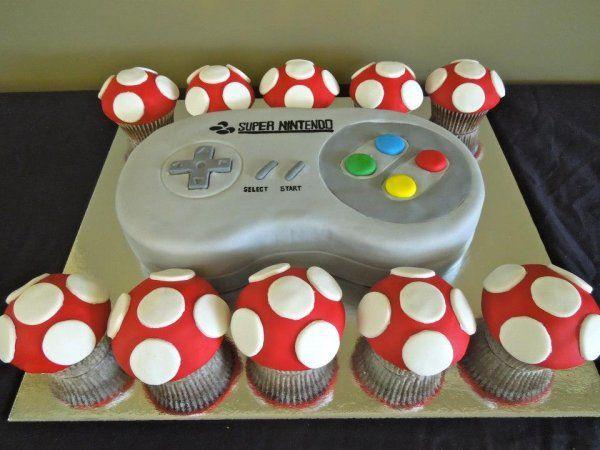 SNES Controller Cake