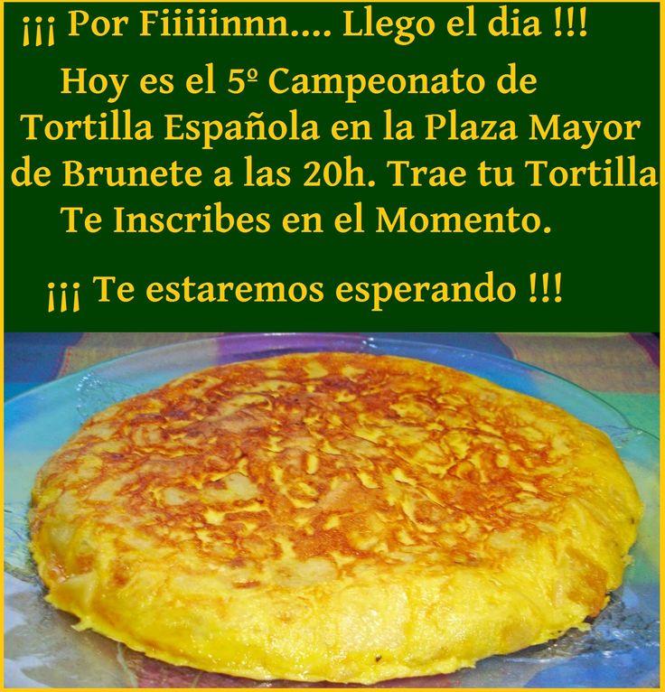 5º Campeonato de #Tortilla #Española en la Plaza Mayor de #Brunete