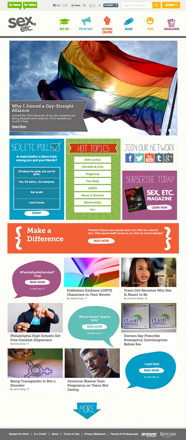 Teen website for sexual information
