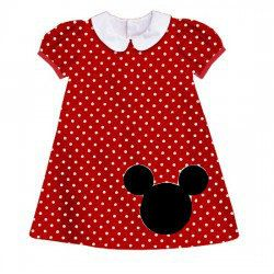 Custom girls disney a line bishop dress with applique mickey mouse
