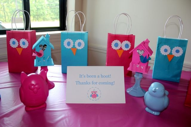 Bird and Owl Themed Party...I added pics to Catch My Party.  Catch My Party is an awesome site to get lots of party planning ideas!  :)