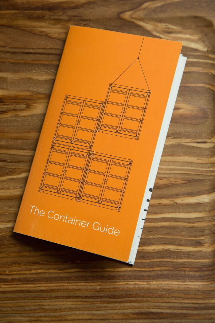 The Container Guide by Tim Hwang and Craig Cannon  is a practical field guide to identifying containers and the corporations that own them. They included photographs, logos, and container colors will help you quickly identify the corporation behind almost any container you spot in the wild. Each company's corresponding entry provides rich historical background and data on their revenue, trade routes, and habits.