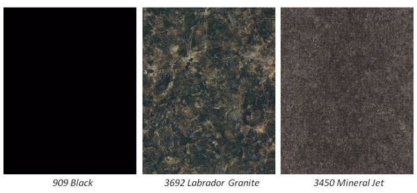 Black Countertops named Top Trend for 2014. Here are some suggested Formica Laminate black patterns.