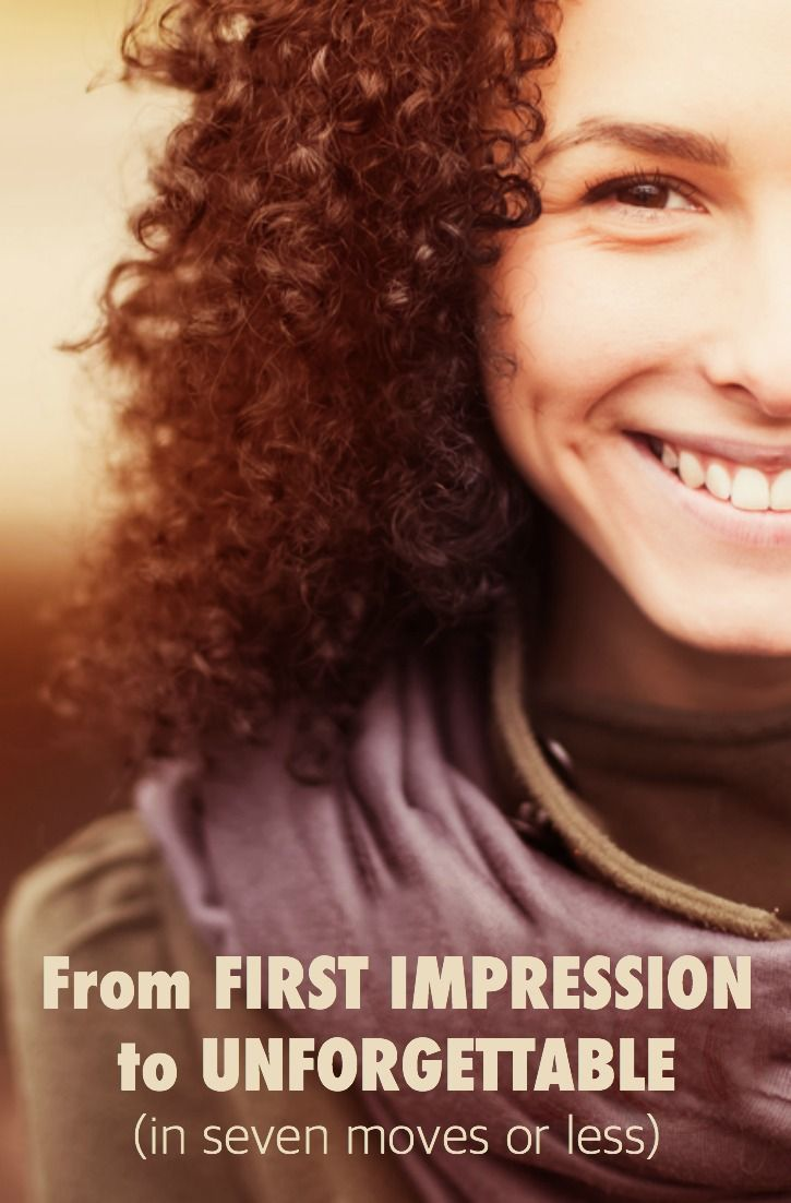 First impressions happen fast - seven seconds or less - but with the right know-how, seven steps and seven seconds is enough to make you unforgettable. Here's how. http://www.heysigmund.com/unforgettable/