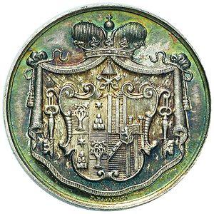 Artemide Aste - Asta XXVI: 1280 - Sede Vacante (1903) Medaglia del Maresciallo del Conclave Principe Mario Chigi - Dea Moneta