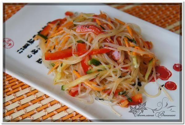 Рецепт салата из фунчозы диетический