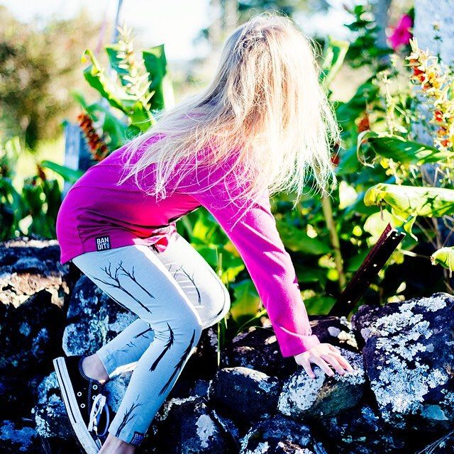 Weekends are made for exploring. [BANDITKids Spooky Forest Grey Leggings]  #littlestyles #banditkids