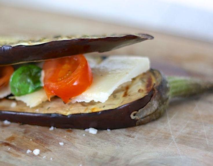 Italiaanse aubergine-sandwich