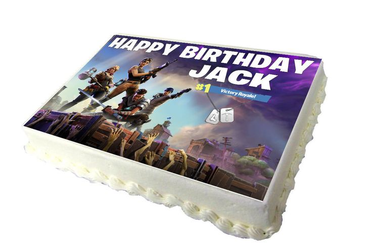 Fortnite a4 birthday cake topper with any name pool