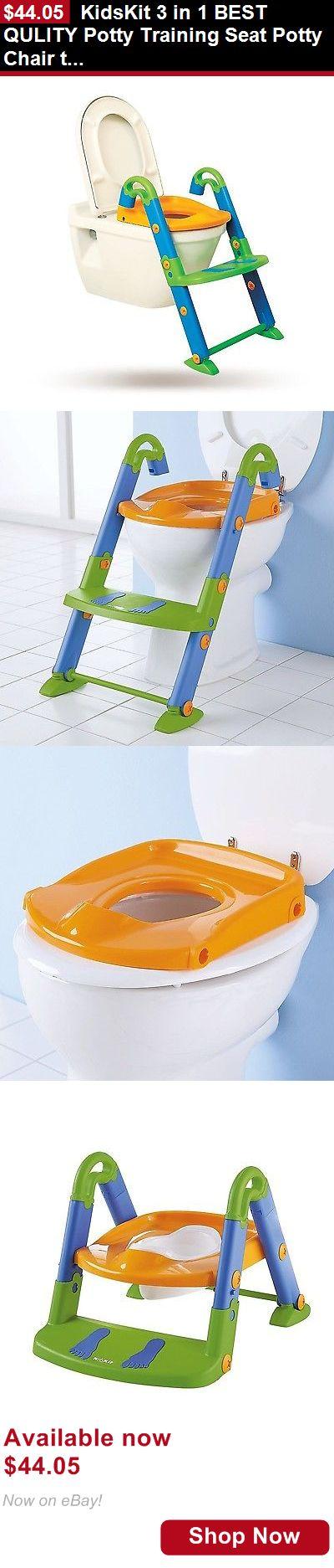 Potty Training: Kidskit 3 In 1 Best Qulity Potty Training Seat Potty Chair Training Toilet Seat BUY IT NOW ONLY: $44.05