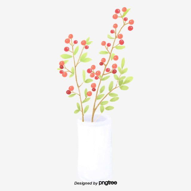 الزهور في مزهرية بيضاء الكرتون مزهرية فنية كرتون نبات Png وملف Psd للتحميل مجانا White Vases Vase Decor