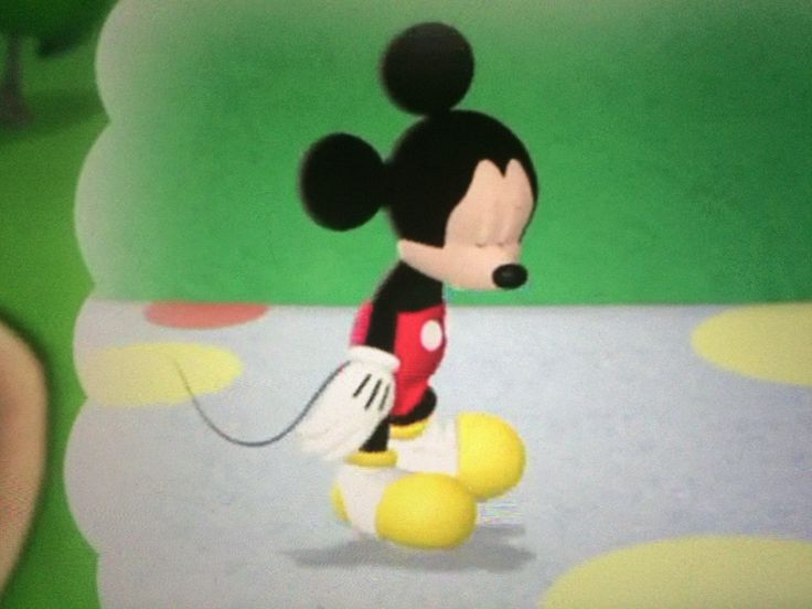 "Mickey (as he thinks) looking very sad for what he may have done wrong.  Maybe too much tap dancing.  This scene from the Mickey Mouse Clubhouse episode ""Donald of the Desert"""