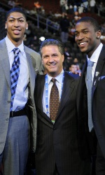 Anthony Davis and Michael Kidd-Gilchrist were the first teammates to go No. 1-2 in NBA Draft history, while John Calipari becomes first coach to have three No. 1 overall draft picks.