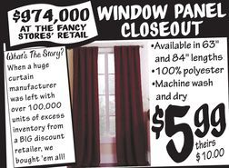 Window Panel Closeout from Ollie's Bargain Outlet $5.99