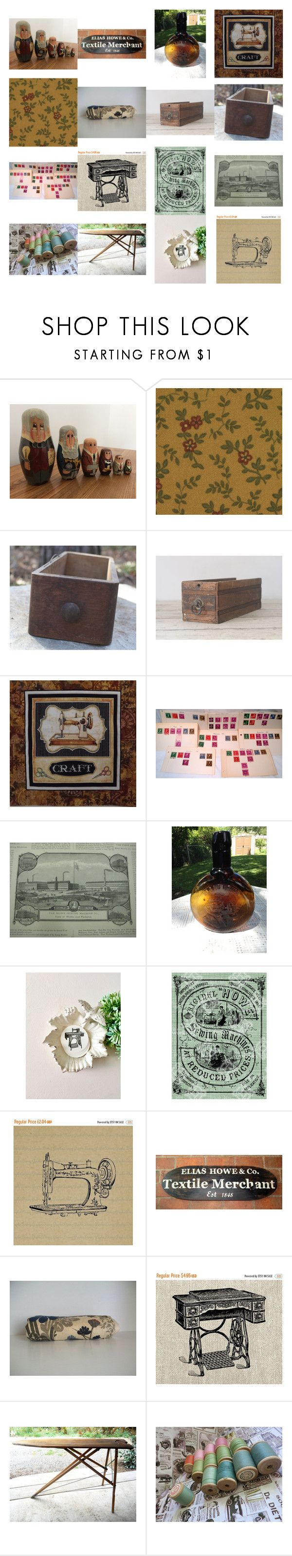 """""""A Tribute to Elias Howe"""" by kateduvall ❤ liked on Polyvore featuring interior, interiors, interior design, home, home decor, interior decorating, Howe and vintage"""