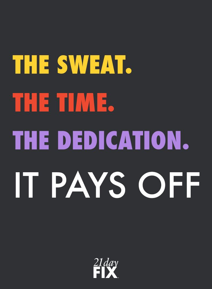 Your Dedication During Your Workouts And In The Kitchen