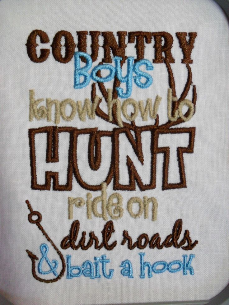 Country Boys Know How Ride On Dirt Roads & Bait A Hook Embroidered Kids or Babies T-shirts or Bodysuits Your Choice by JustSayingToo on Etsy https://www.etsy.com/listing/167703544/country-boys-know-how-ride-on-dirt-roads