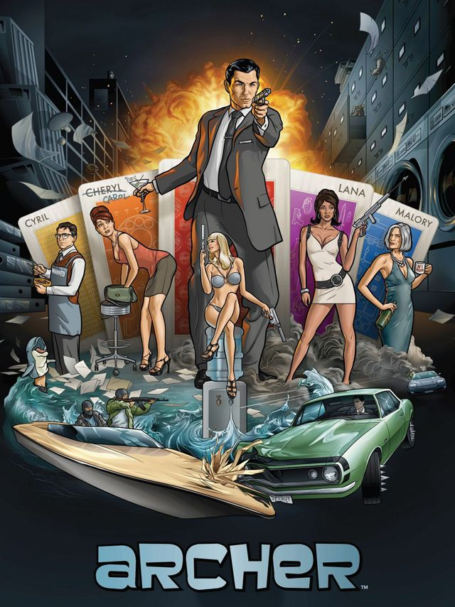 Masculinity on television also hyper-sexualizes women, as seen on Archer. The James Bond of the animated world.