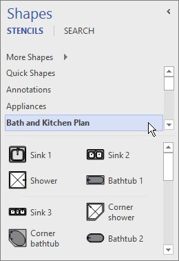 use the shapes window organize and find visio unique kitchen island home design ideas