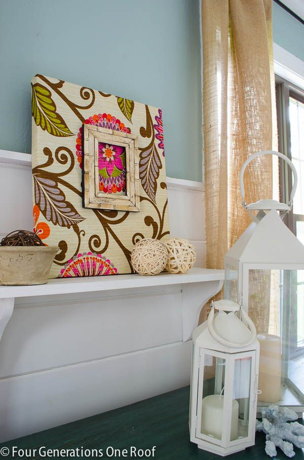 Cover Your Walls In Fabric : Best fabric covered canvas ideas on pinterest