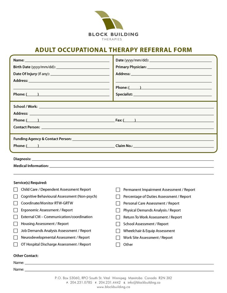 tenncare occupational therapy templates adult occupational therapy referral form pdf. Black Bedroom Furniture Sets. Home Design Ideas