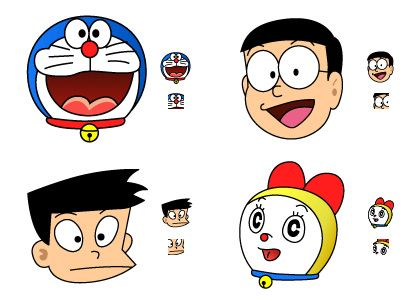 how to draw nobita and friends step by step