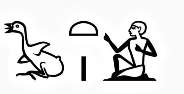"The term ""chaty"" or vizier in hieroglyphic writing."