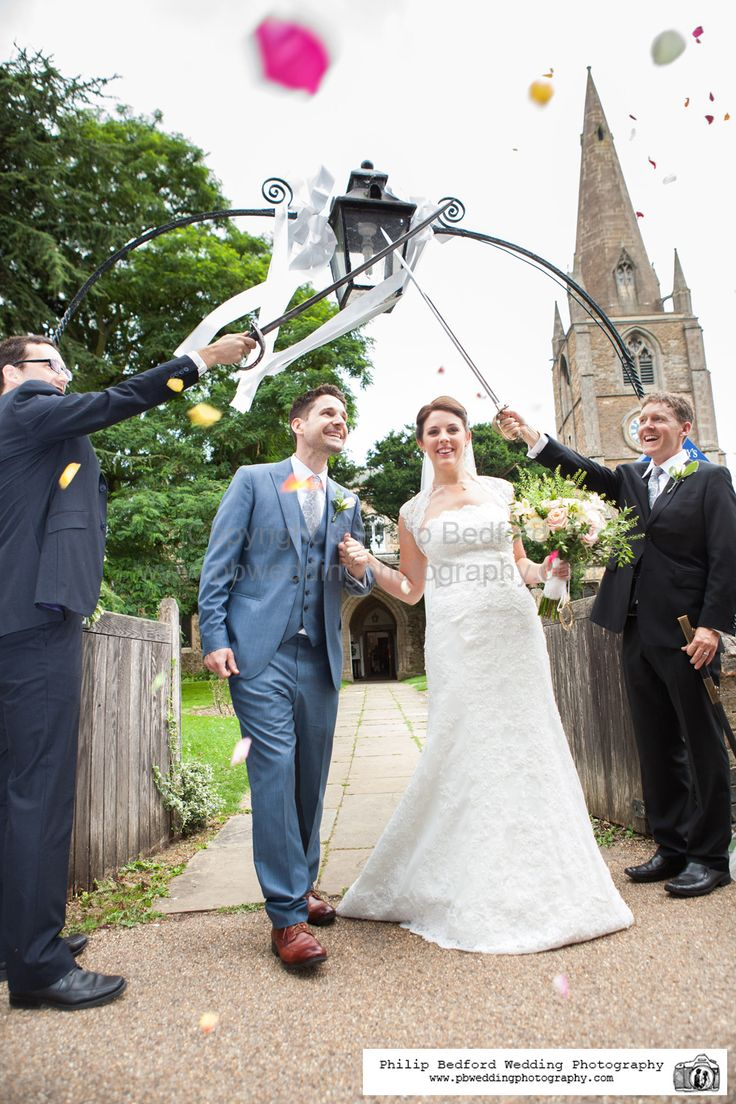 #Confetti and #Swords exit from the church