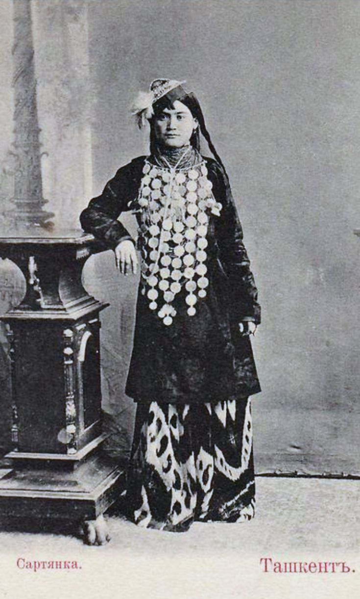 Uzbekistan (Russia) | Sart Woman.  Tashkent  | Vintage photographic print; ca. 1900.