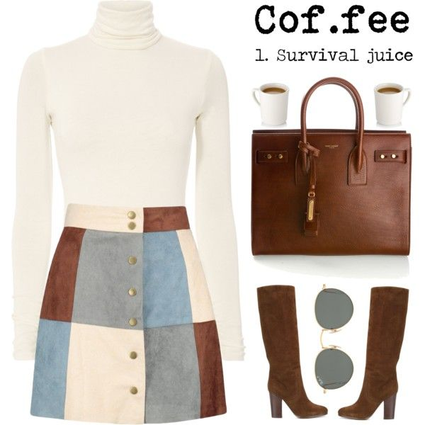 A fashion look from October 2017 featuring Boohoo mini skirts, Ralph Lauren boots and Yves Saint Laurent handbags. Browse and shop related looks.