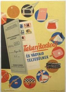 Villamosplakát: Siklós, Iskolai takarékbélyeg. - Nosztalgia plakát és reklám - 1500 Ft