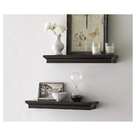 "$20 Threshold™ Set of 2 Traditional Shelves - Brown (15.75"")"