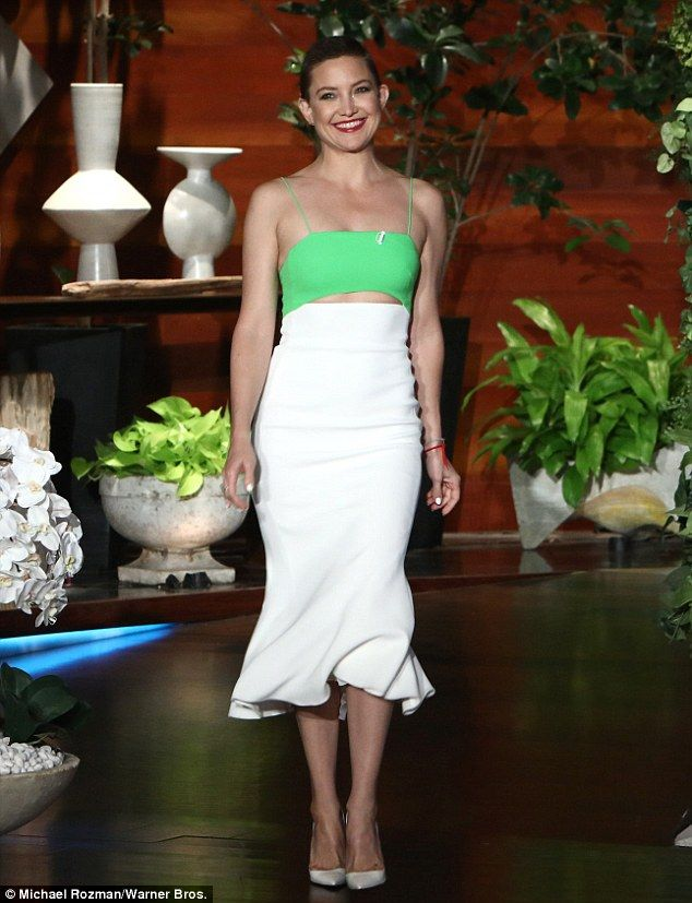 Cute: The nepotistically-privileged daughter of Goldie Hawn bared her taut midriff in a gr...