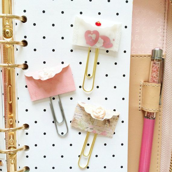 Valentines day Planner clip, planner accessories, planner, page markers, Love Letters clips