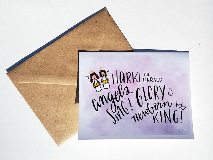 HARK! - Card - Christmas Card - Cute Simple Pun Funny Love Handmade - For Him/Her, Friend, Holiday Season, Greeting, Work by THEBRANCHANDTHEVINE on Etsy