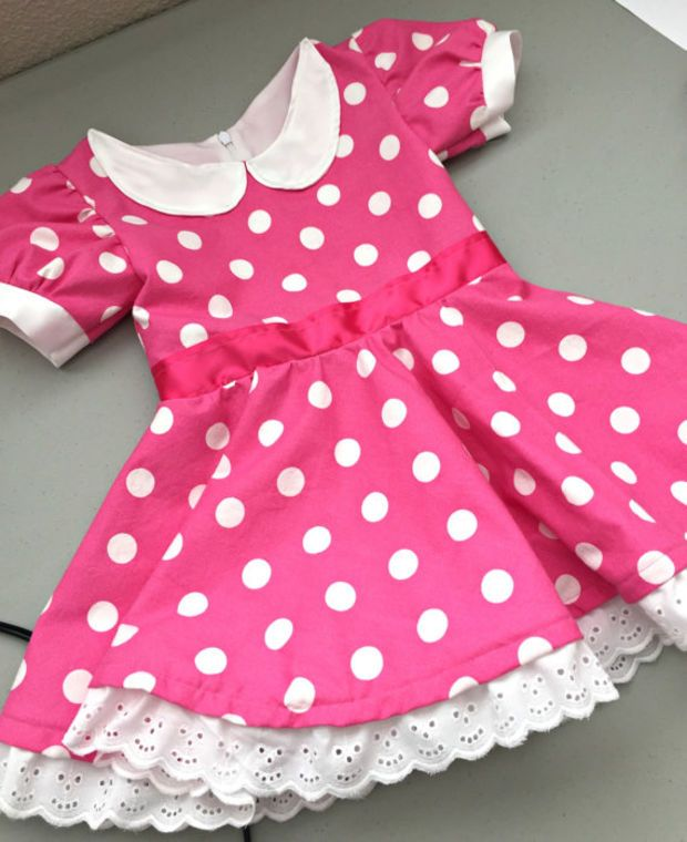 Minnie Mouse Dress - Pink Or Red - CUSTOM DRESS - Dress Up - Costume