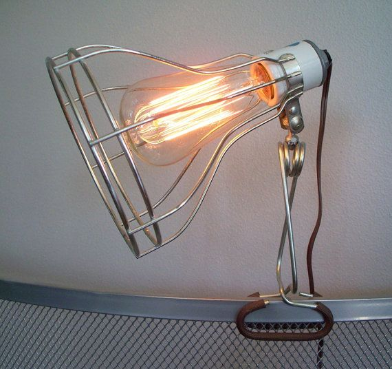 Great industrial vintage light you can move anywhere.  From The Butter Dish on Etsy.