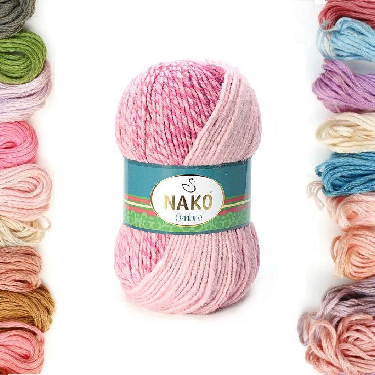 Nako Ombre, Knitting Yarn, wool yarn, acrylic yarn, Winter Yarn, Wrap Yarn, Scarf yarn, pullover yarn, bulki yarn, hat yarn, scar yarn, yarn by TURKISHYARNSS on Etsy