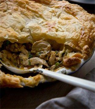 Chicken, leek & mushroom pie | Karen Martini