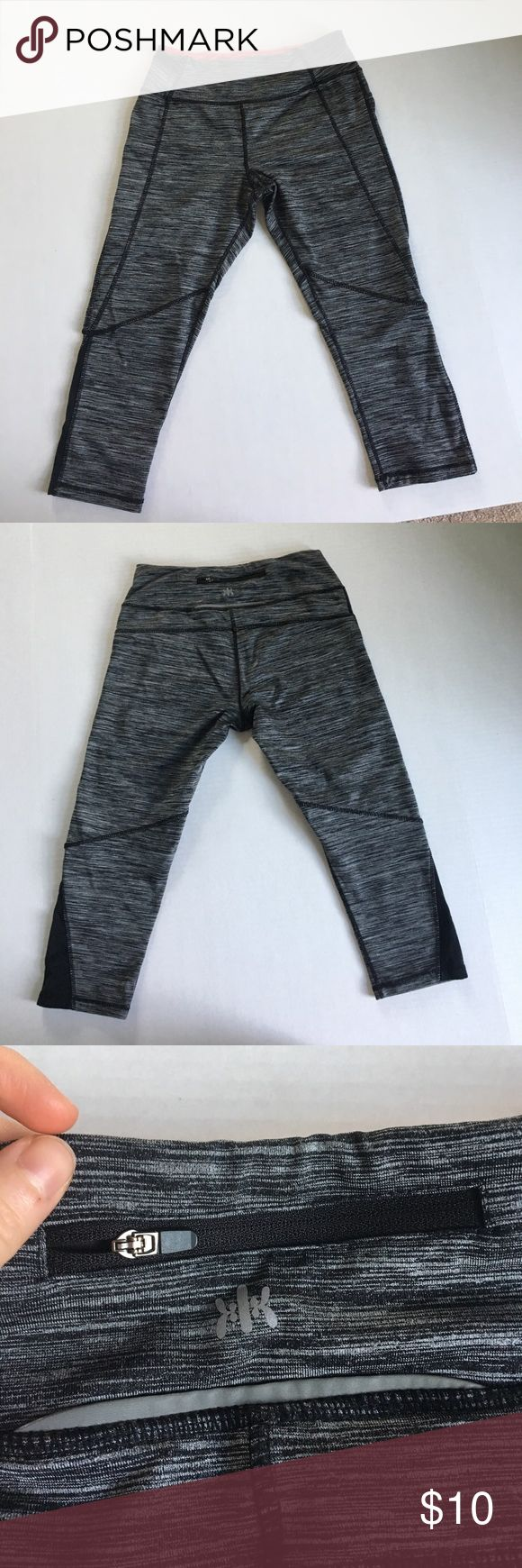 Kyodan crop gym pants These Kyodan crop gym pants are in awesome used condition! They have been worn a few times, but have so much life left to them! They're a size Petite/Small. Very stretchy, they're just too small for me. Small zip pocket on the waistband. Kyodan Pants Track Pants & Joggers