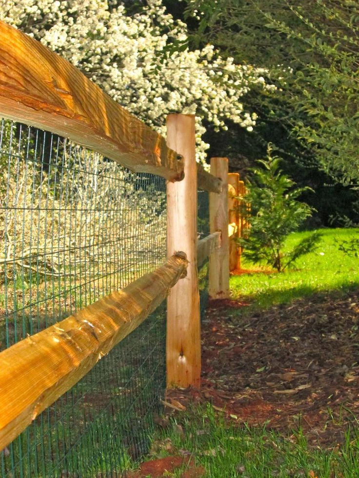 Gods little grace the fence is complete rustic fence
