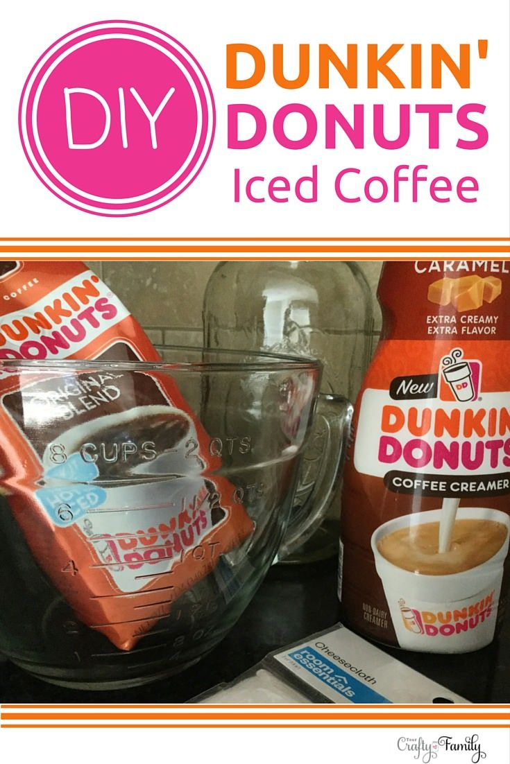 Make your own DIY cold brew coffee concentrate and you'll have amazing Dunkin' Donuts iced coffee whenever you want! (Iced coffee addiction!)