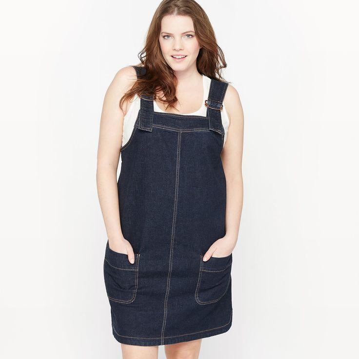 Платье-комбинезон из денима темно-синий Castaluna | купить в интернет-магазине La Redoute