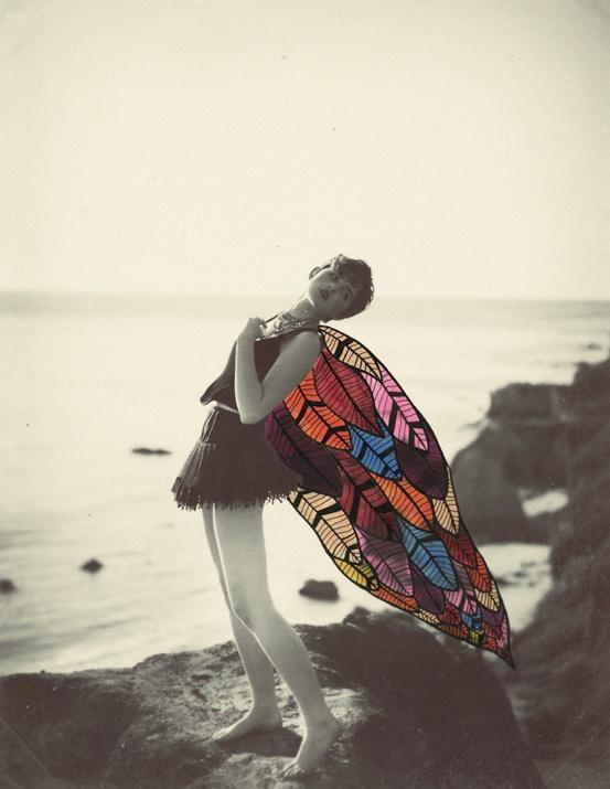 Alexandra Valenti mistura fotografias com padrões de aquarela para compor lindas…