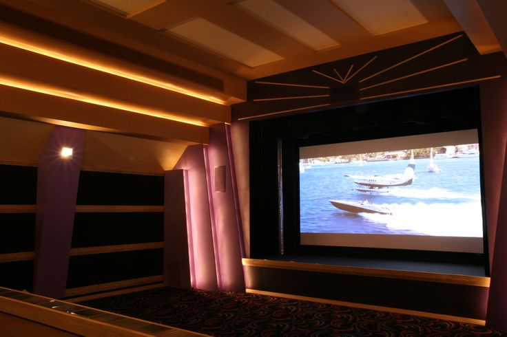 Home Theatre Systems. Luxury space to watch in style.